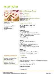 mohn marzipan torte rezeptwiese