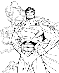 Superman coloring books for boys to print or for free