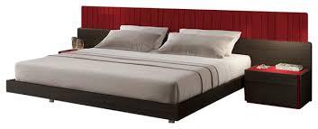 J&M Lagos Wenge Veneer With Red Accents Queen Size Bedroom Set