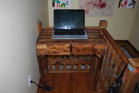 Console Pour Pc Portable Pallet puter Desk • 1001 Pallets