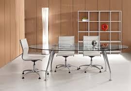 bureau transparent verre bureaux de direction bureau direction ovale en verre transparent