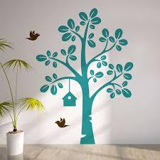 Cool Largetree With Flying Birds Vinyl Wall Decal Kids Nursery Tree Sticker Baby Bedroom Art