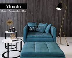 100 Minotti Dining Table Andersen Love 2012 Chair 3dbrute 3dmodel
