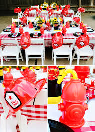 100 Fire Truck Birthday Party Bright BLAZING Man Hostess With The