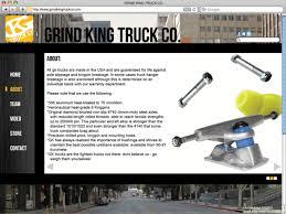 100 Grind King Trucks Web Page Design MATT ANTHONY DESIGN