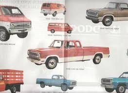 1973 Dodge Trucks Folder Van Power Wagon Pickup Stake Tandem Tradesman