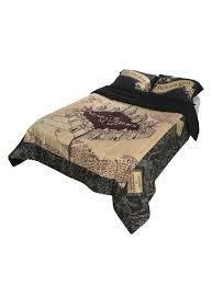 harry potter the marauder s map full queen comforter hot topic