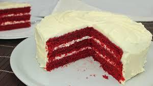 velvet cake mit cheese frosting amerikanisch