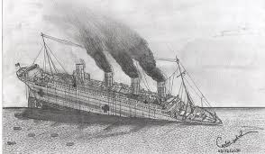 the sinking of the britannic by carlosgabrielpe on deviantart