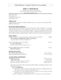 Junior Accountant Resume Objective Staff Accounting Examples Cost Senior Sample