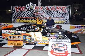 Wayne Hale Waves The Checkered Flag After Winning Fridays Race