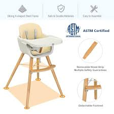 Baby Joy Wooden High Chair Baby Toddler 3 In 1 Convertible Highchair W/  Cushion YellowPinkWhite 3 Colors Baby High Chair Wooden Stool Infant Do It Yourself Divas Diy Refishing A Solid Wood Highchair Koodi Grey Plan Toys Black Mocka Soho Highchairs Au 3in1 Convertible Play Table Seat How To Clean 11 Steps With Pictures Wikihow Hay About A Aac 22 Wooden Fourleg Frame Oak Matt Lacquered White Chairs For Montessori Home Learn What Kind Of High