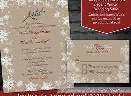 Rustic Winter Wedding Invitations Unique Snowflake Invitation By Notedoccasions