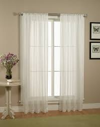 White Sheer Voile Curtains by Marvelous Image Of Home Interior Window Design And Decoration
