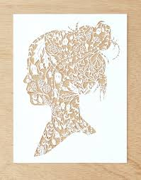 This Piece Is An Original Hand Cut Of Paper Artwork The Design Was Entirely By With X Acto Blade Made To Order Meaning