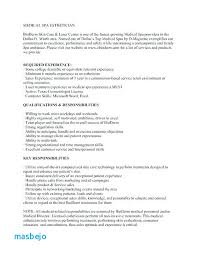 Medical Esthetician Resume Examples For Templates Sample Job