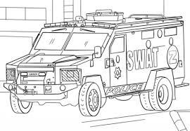 Click To See Printable Version Of SWAT Truck Coloring Page