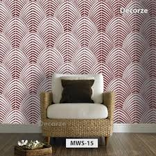 Beautiful Modern Wall Painting Stencil Large And Reusable Pattern MWS 15