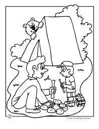 12 Camping Coloring Pages For Summer Camp Kids Travel Activities Or Just Plain Fun