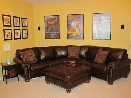 Brown Leather Sofa Living Room Ideas by Brown Leather Sofa Decorating Living Room Others Beautiful Home Design