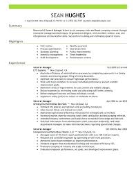 22 Inspirational General Manager Resume Summary Examples