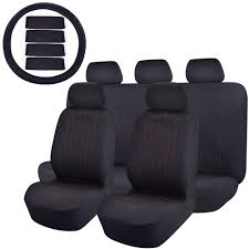 100 Truck Seat Cover 47 In X 23 In X 1 In 14PC Universal Fit Full Set Flat Cloth Fabric