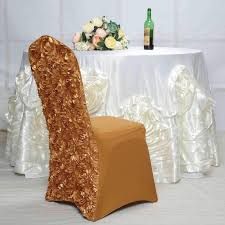 Satin Rosette Gold Stretch Banquet Spandex Chair Cover - ChairCoverFactory Chiavari Chairs Vs Chair Covers With Flair Gold Hug Cover Decor Dreams Blackgoldchampagne Satin Chair Covers Tie Back 2019 2018 New Arrival Wedding Decorations Vinatge Bridal Sash Chiffon Ribbon Simple Supplies From Chic_cheap Leatherette Quilted Fanfare Chameleon Jacket Medallion Decoration Package 61 80 People In S40 Chesterfield Stretch Spandex Folding Royal Marines Museum And Sashes Lizard Metallic Banquet Silver Outdoor