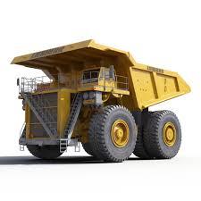 100 Haul Truck Liebherr Yellow 3D Model