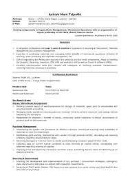 Resume Sample For General Manager Position New Logistics Splashimpressions