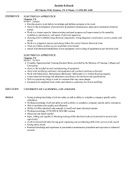 Download Electrician Apprentice Resume Sample As Image File