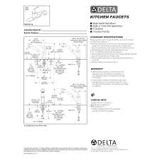 Delta Faucet Aerator Leaks by Delta Faucet B4310lf Foundations Polished Chrome Pullout Spray