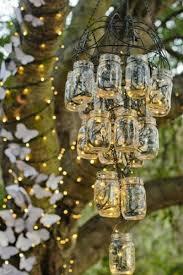 Mason Jar Light Fixture Outdoor Wedding