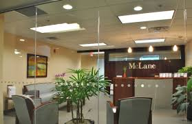 Bright Elegant Reception Area With Full Length Glass Entry