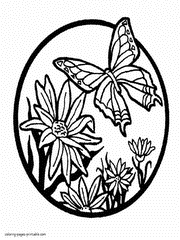 Free Coloring Pages Flowers And Butterflies For Childre