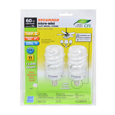 sylvania 13 watt micro mini fluorescent light bulb candelabra