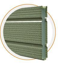 glissières intégrées de sécurité antibruit en acier écrans