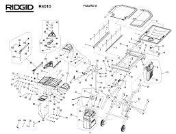 Ridgid Tile Saw Blade by Ridgid R4010 Wet Tile Saw Parts