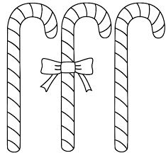 Candy Cane Coloring Pages Printable
