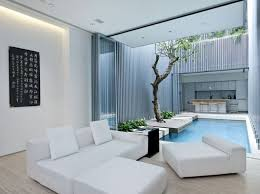ApartmentSerene Living Room With Feng Shui Decor Also Solid White Sofa And Japanese Wall