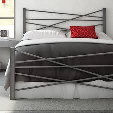 Macys Metal Headboards by Amisco Crosston Metal Bed With Asymmetrical Appeal For The