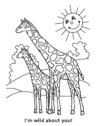 Giraffe Coloring Picture Printable Pages Online Pdf Large Size