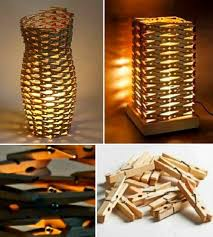 Clothespins Lamp Praktic Ideas