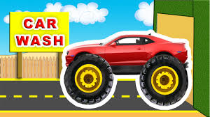 100 Red Monster Truck In Car Wash YouTube