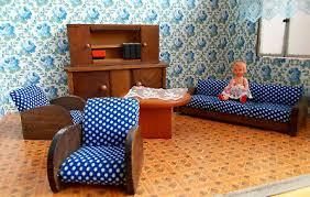 puppenstubenmöbel wohnzimmer holz komplett sessel rülke