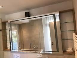 details zu spiegelschrank bad mit beleuchtung 2250 mm breit in eiche