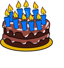279x299 10th Birthday Cake Clip Art