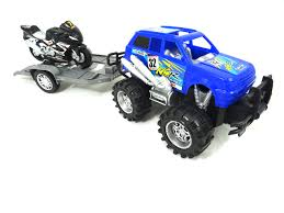 Buy Monster Truck Towing Motorcycle Toy On Trailer - Friction ... Rc Nitro Monster Truck 116 Scale 24g 4wd Rtr 28610g Rchobbiesoutlet Rc Car 40kmh 24g 112 High Speed Racing Full Proportion Fisherprice Nickelodeon Blaze The Machines Traxxas Stampede Wid W24ghz Black Tra360541t2 Buy And Talking Remote Control Triband Offroad Rock Crawler Ebay Jam Crush It Game Price In Pakistan New Buggy From Ecx For Sale Youtube Nokier 18 Radio 35cc 2 50 Off 4x4 Offroad Christmas Gift 1 Epictoria Mad Racer Red