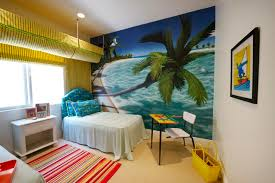 Model home bedroom Tropical Kids Los Angeles by Tracy