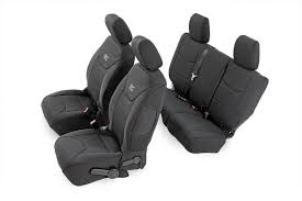Black Neoprene Seat Cover Set For 2013-2017 Jeep Wrangler JK ...