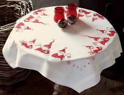 déco de noël decoration table pour noel nappe blanc